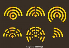 Free vector Gold Wifi Logo Vectors #6910