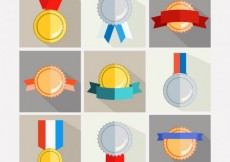 Free vector Golden and silver awards #6295