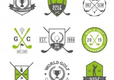 Free vector Golf badges #8420