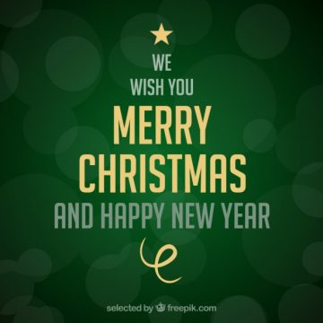 Free vector Green christmas tree card made of lettering #11486