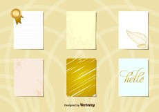 Free vector Greeting Gold postcard layouts #11045