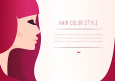 Free vector Hair color style template #9927
