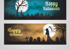 Free vector Halloween greeting banners #8047