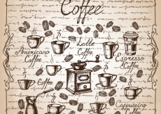 Free vector Hand drawn coffee elements #5878