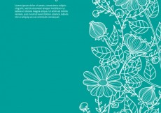 Free vector Hand drawn floral background #7534