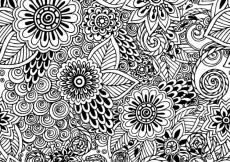 Free vector Hand drawn floral pattern #8789