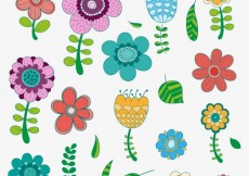 Free vector Hand drawn flowers in colorful style #9522