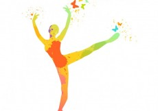 Free vector Hand painted ballerina silhouette #5547