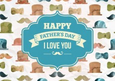 Free vector Hand painted fathers day card #5453