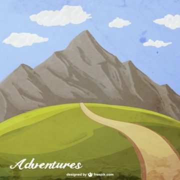 Free vector Hand painted mountain adventure #6623