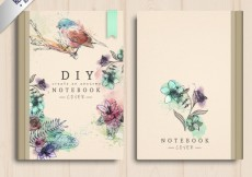 Free vector Hand painted notebook cover #4344