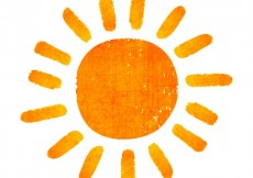 Free vector Hand painted sun #9666
