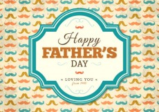 Free vector Happy fathers day card with mustaches #6124