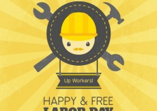 Free vector Happy labor day background #7504