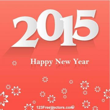 Free vector HAPPY NEW YEAR 2015 POSTER VECTOR.ai #4382