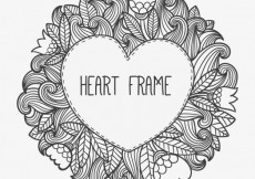 Free vector Heart frame in doodle style #11380