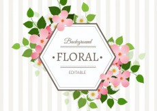 Free vector Hexagonal floral label #6888