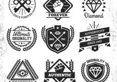 Free vector Hipster badges collection #11196