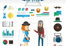 Free vector Hipster infographic #11983