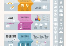 Free vector Holidays travel infographic #11769