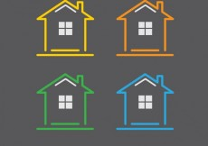 Free vector Houses icons #8889