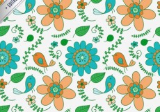 Free vector Illustrated flowers pattern #9506