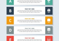 Free vector Infographic template with banners #4082
