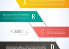 Free vector Infographic template with colored banners #4821