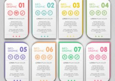 Free vector infographic with colorful banners #10490