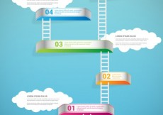 Free vector Infographic with ladders #11340