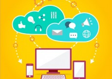Free vector Internet cloud icons #7628