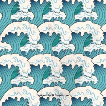 Free vector Japanese waves #4849