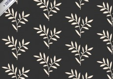 Free vector Leaves pattern in black and white color #11310