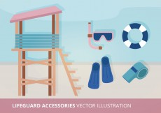Free vector Lifeguard Accessories Vector Illustration #10264