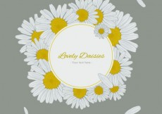 Free vector Lovely daisies label #5357