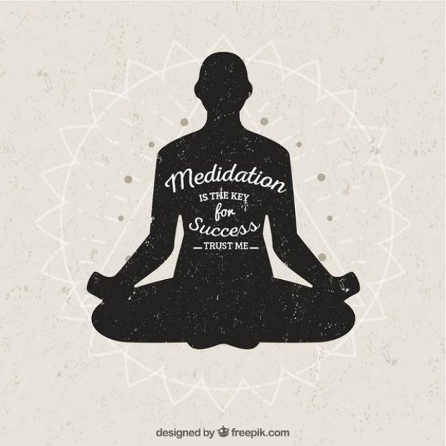 Free vector Meditation is the key of success #9304