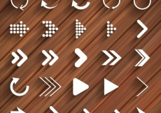 Free vector Modern arrows and reload icons #10072