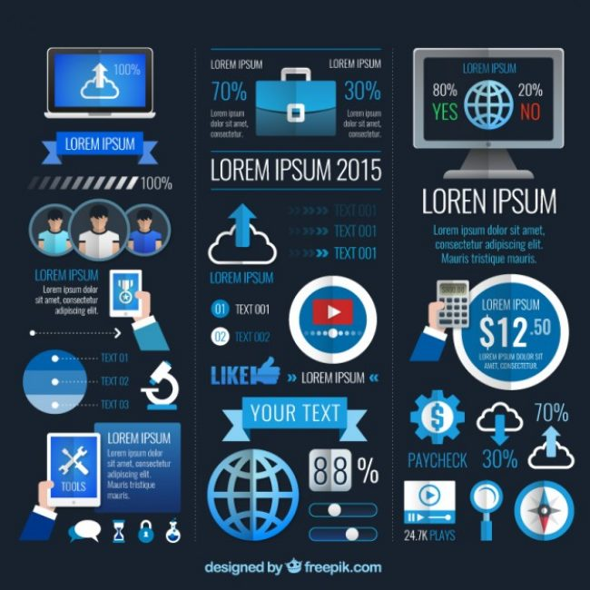 Free vector Modern business infographic #11112