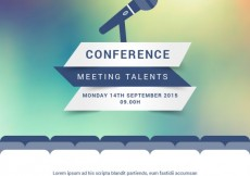Free vector Modern conference poster #8428