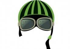 Free vector Motorcycle helmet with goggles #8625