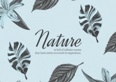 Free vector Nature background with flowers and leaves #4944