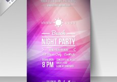 Free vector Night party poster in purple tones #11927