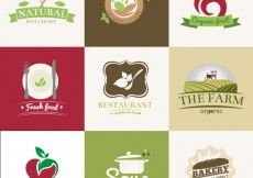 Free vector Organic restaurants badges #8641