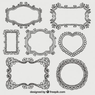 Free vector Ornamental frames collection #4308