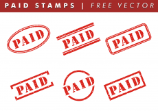 Free vector Paid Stamps Free Vector #7948