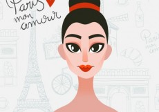 Free vector Parisian woman #8366