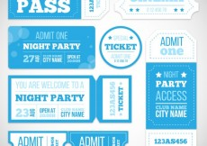 Free vector Party enrance ticket collection #7855