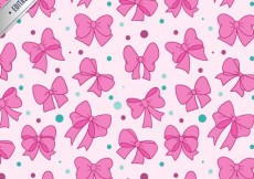 Free vector PInk bows pattern #5675