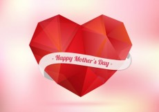 Free vector Polygonal heart for mothers day #12151