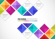Free vector Polygonal infographic in colorful style #11733